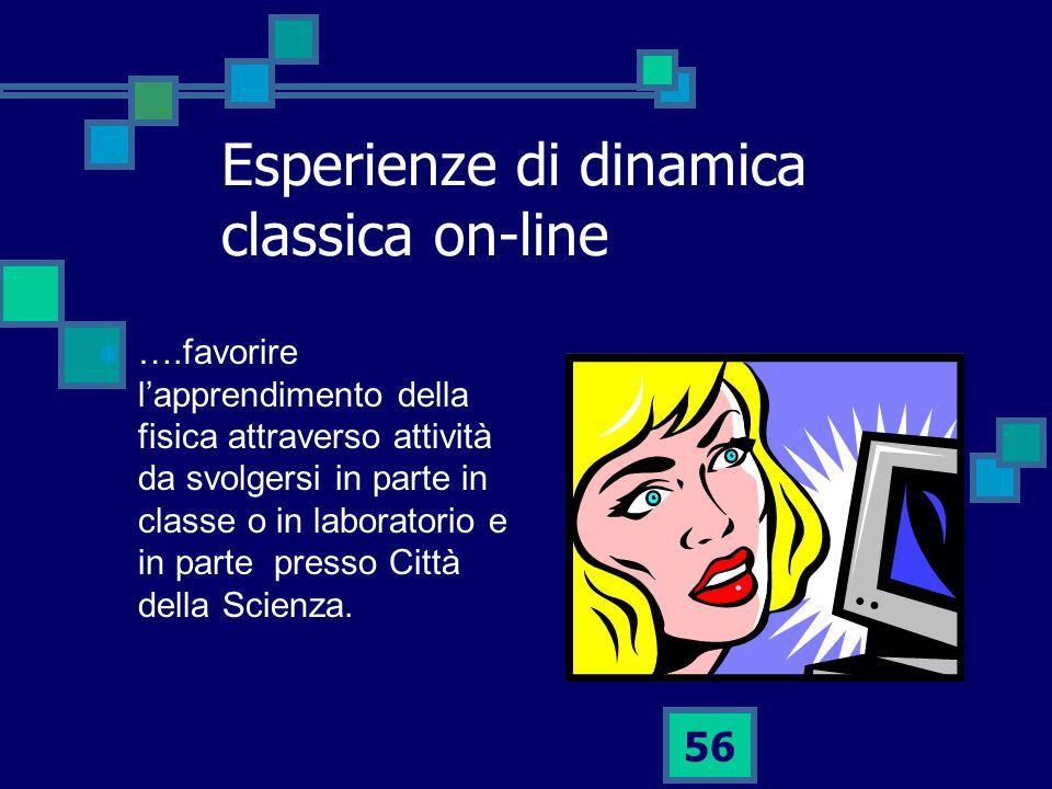 Esperienze di dinamica classica on-line
