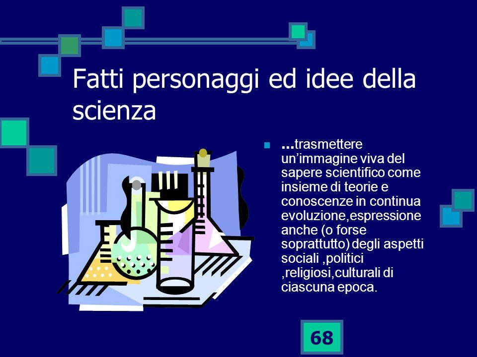Fatti personaggi ed idee della scienza