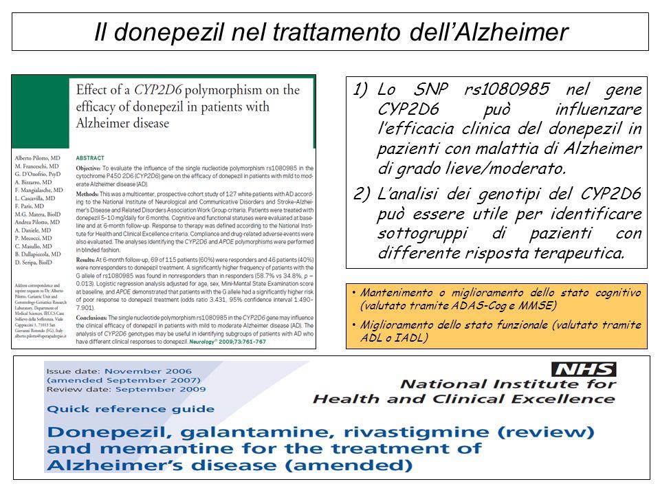 Il donepezil nel trattamento dell'Alzheimer