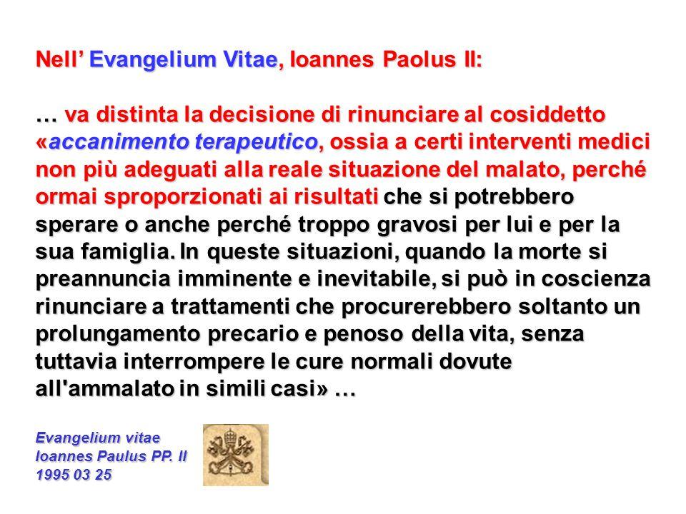 Nell' Evangelium Vitae, Ioannes Paolus II: