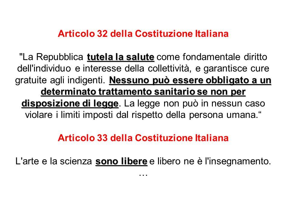 Articolo 32 della Costituzione Italiana