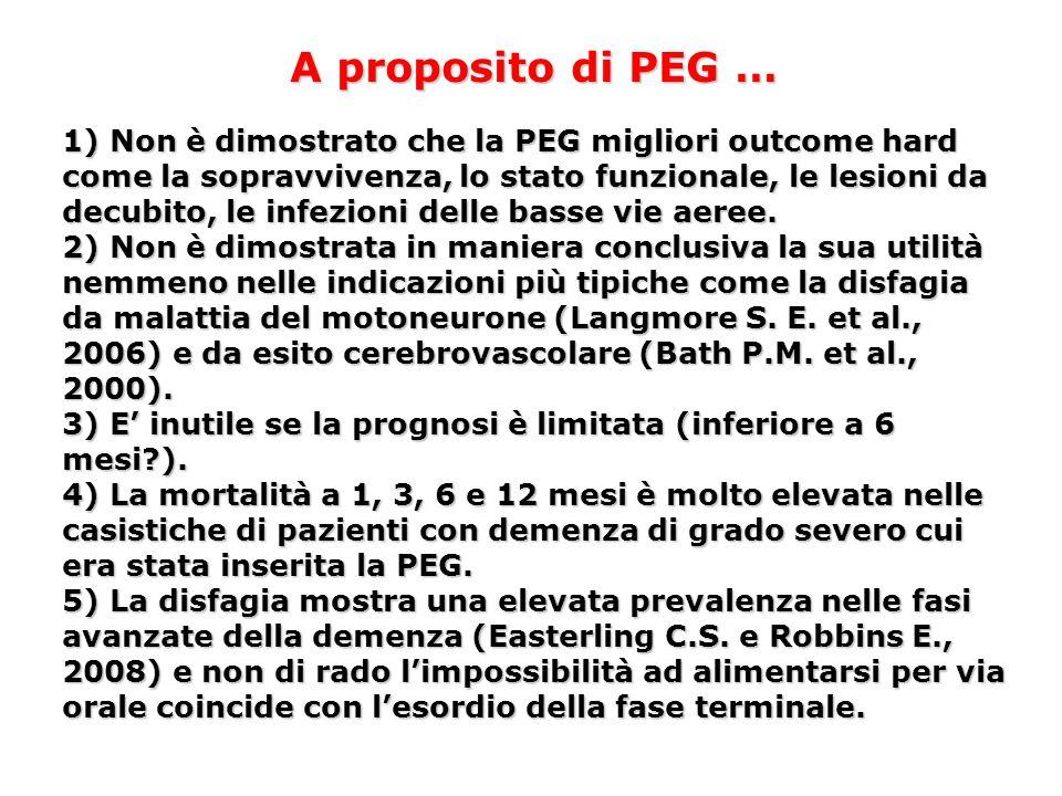 A proposito di PEG …