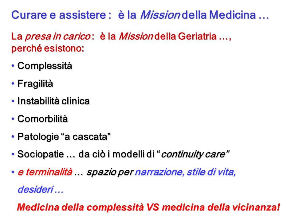 Curare e assistere : è la Mission della Medicina …