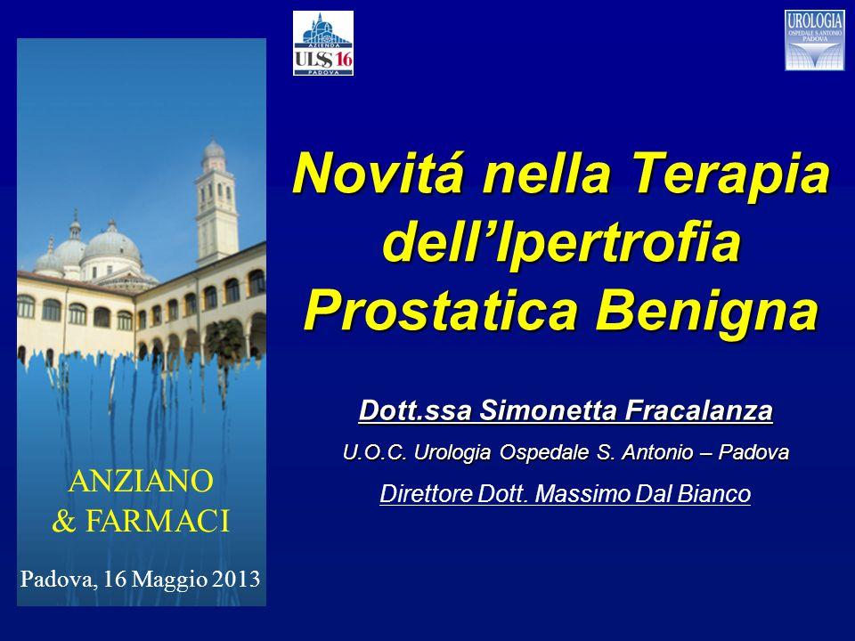 Novitá nella Terapia dell'Ipertrofia Prostatica Benigna