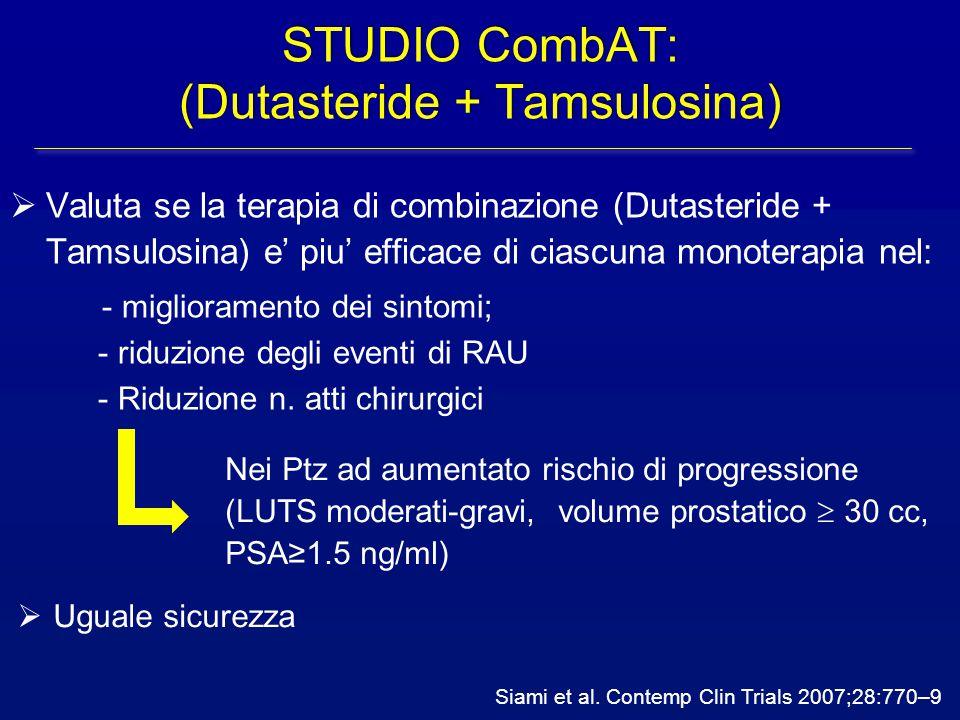 STUDIO CombAT: (Dutasteride + Tamsulosina)