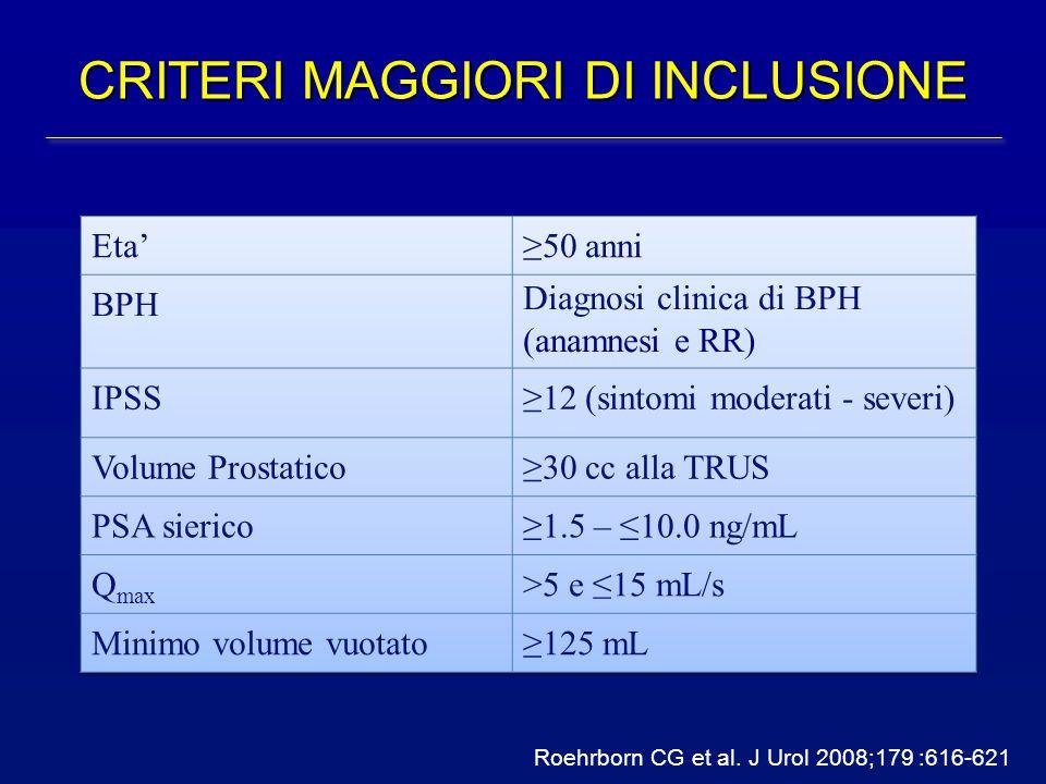 CRITERI MAGGIORI DI INCLUSIONE