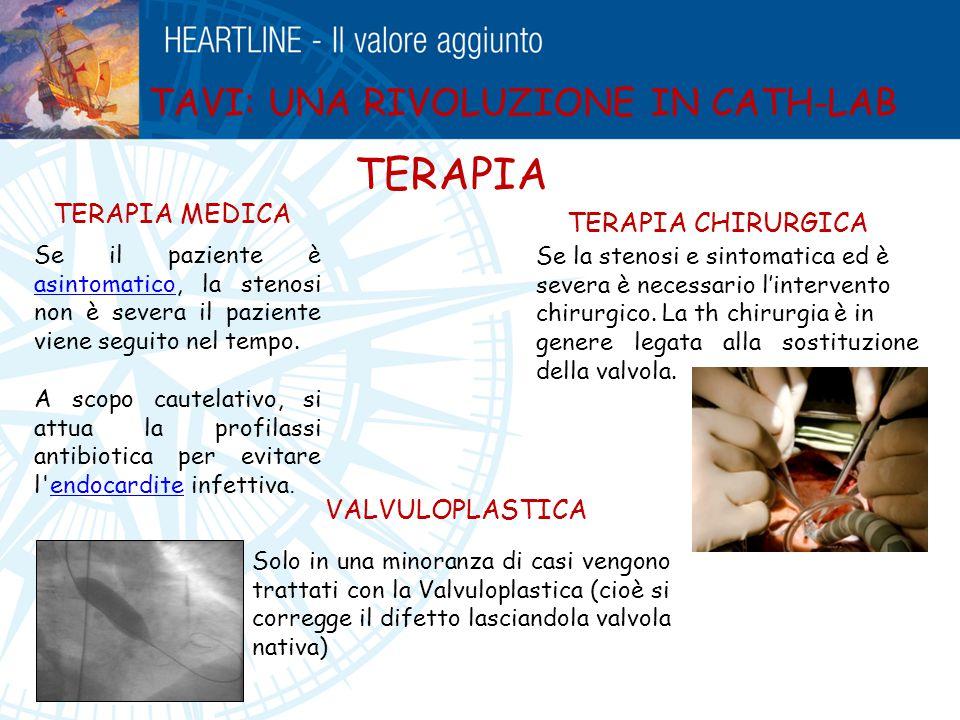 TERAPIA TAVI: UNA RIVOLUZIONE IN CATH-LAB TERAPIA MEDICA