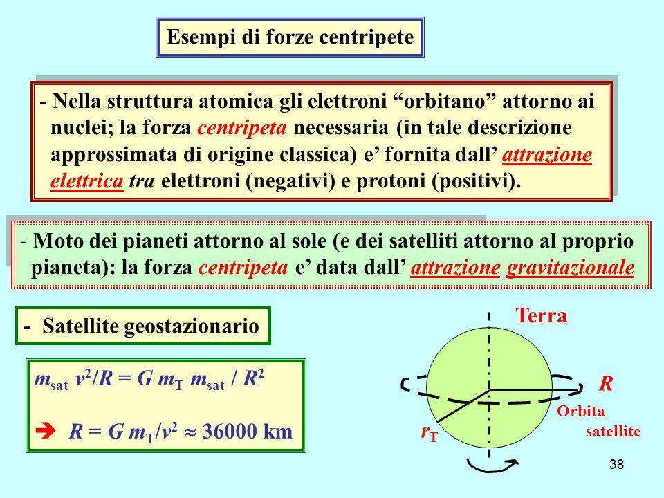 Esempi di forze centripete