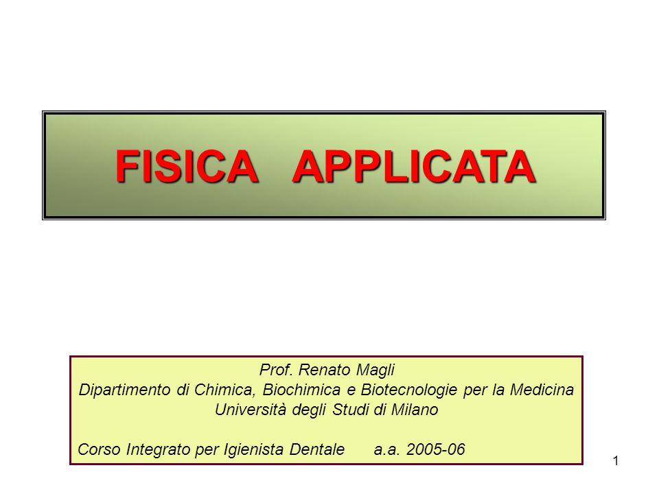 FISICA APPLICATA Prof. Renato Magli