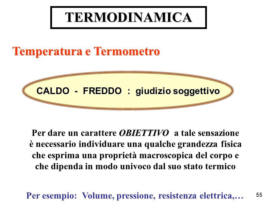 TERMODINAMICA Temperatura e Termometro