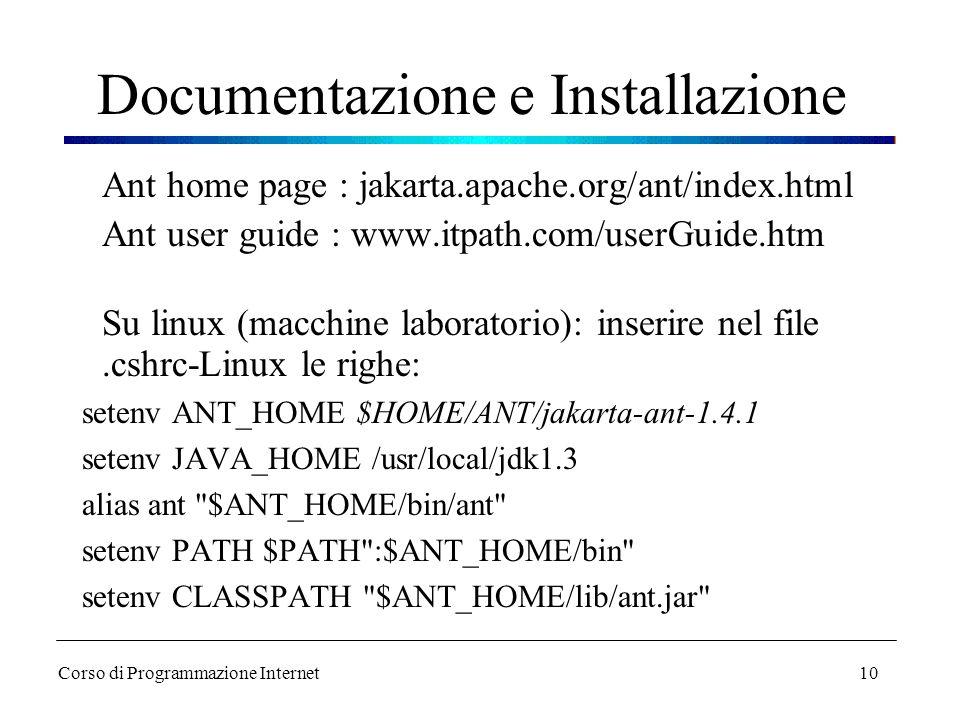 Documentazione e Installazione