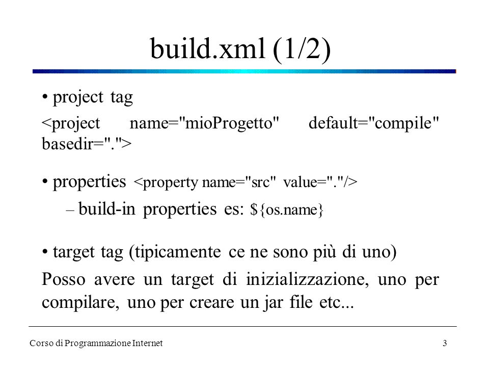build.xml (1/2) project tag