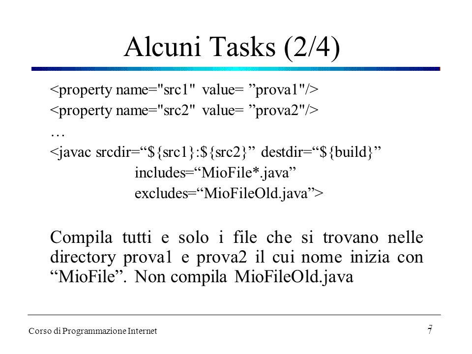 Alcuni Tasks (2/4) <property name= src1 value= prova1 /> <property name= src2 value= prova2 />