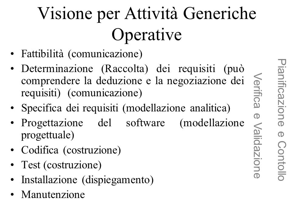 Visione per Attività Generiche Operative