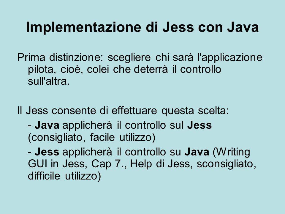 Implementazione di Jess con Java