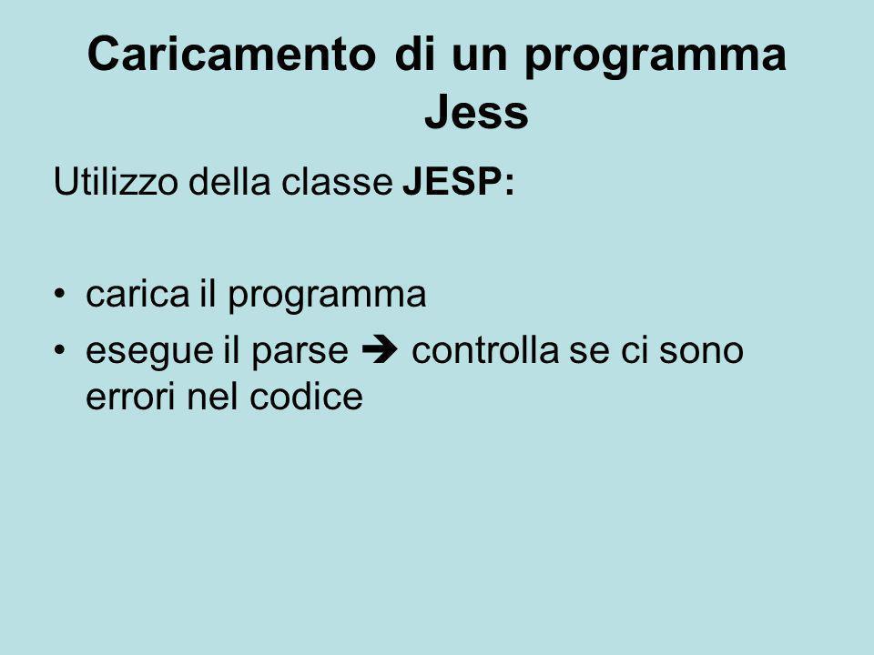Caricamento di un programma Jess