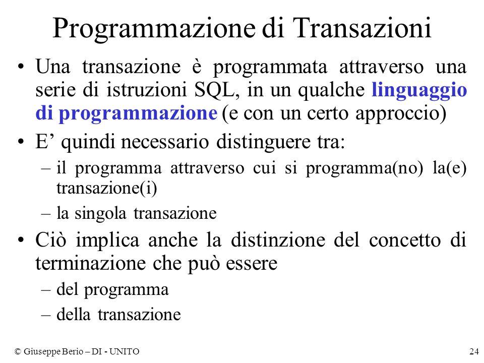 Programmazione di Transazioni