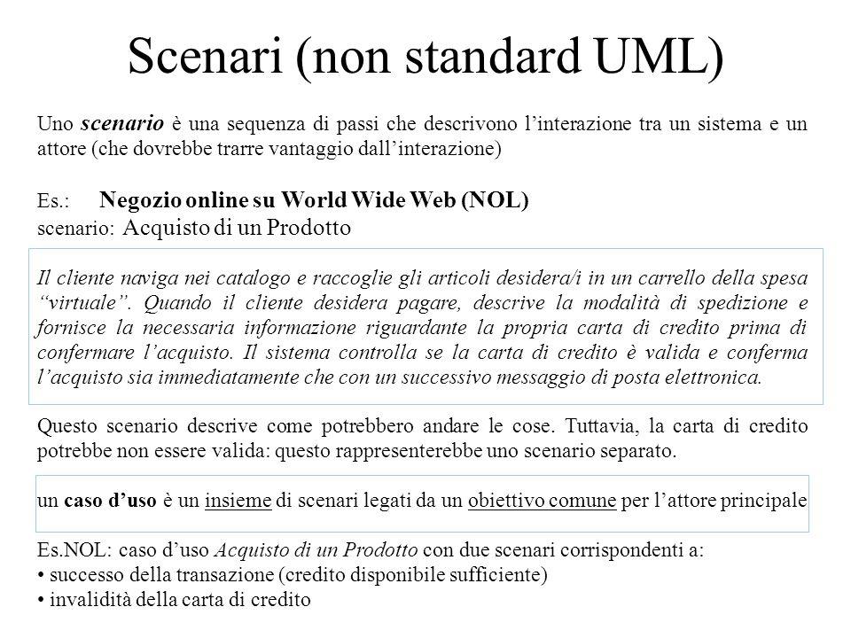 Scenari (non standard UML)
