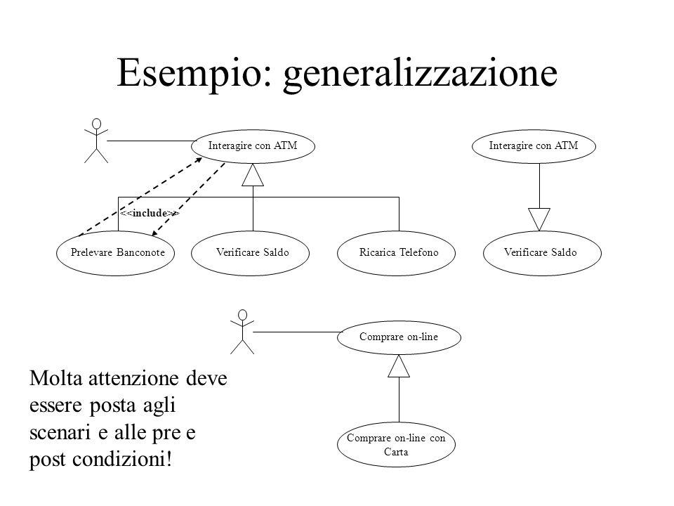 Esempio: generalizzazione