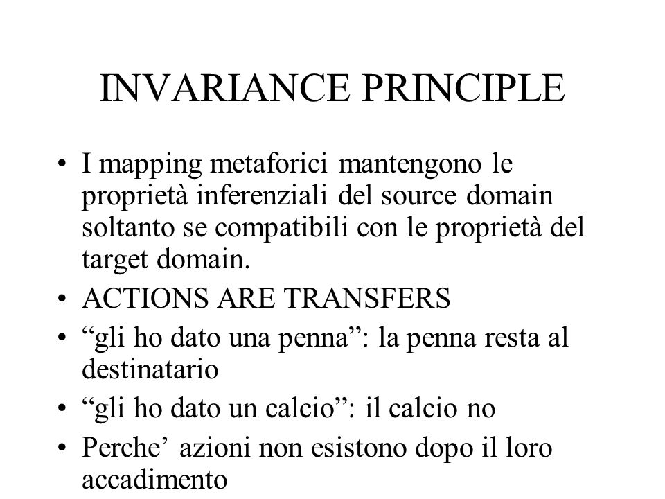 INVARIANCE PRINCIPLE