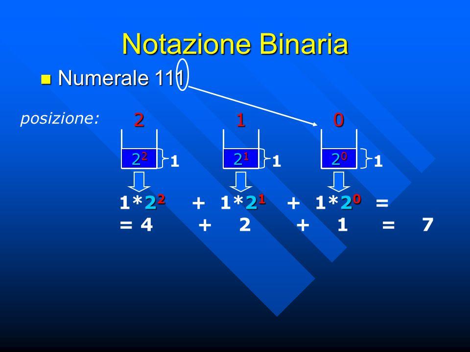Notazione Binaria Numerale 111 2 1
