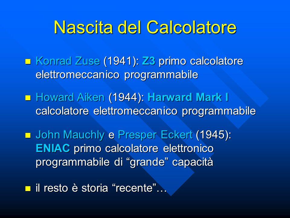 Nascita del Calcolatore