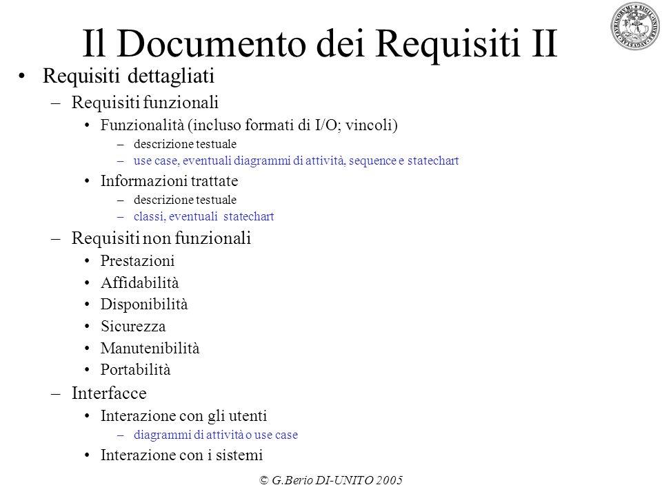 Il Documento dei Requisiti II