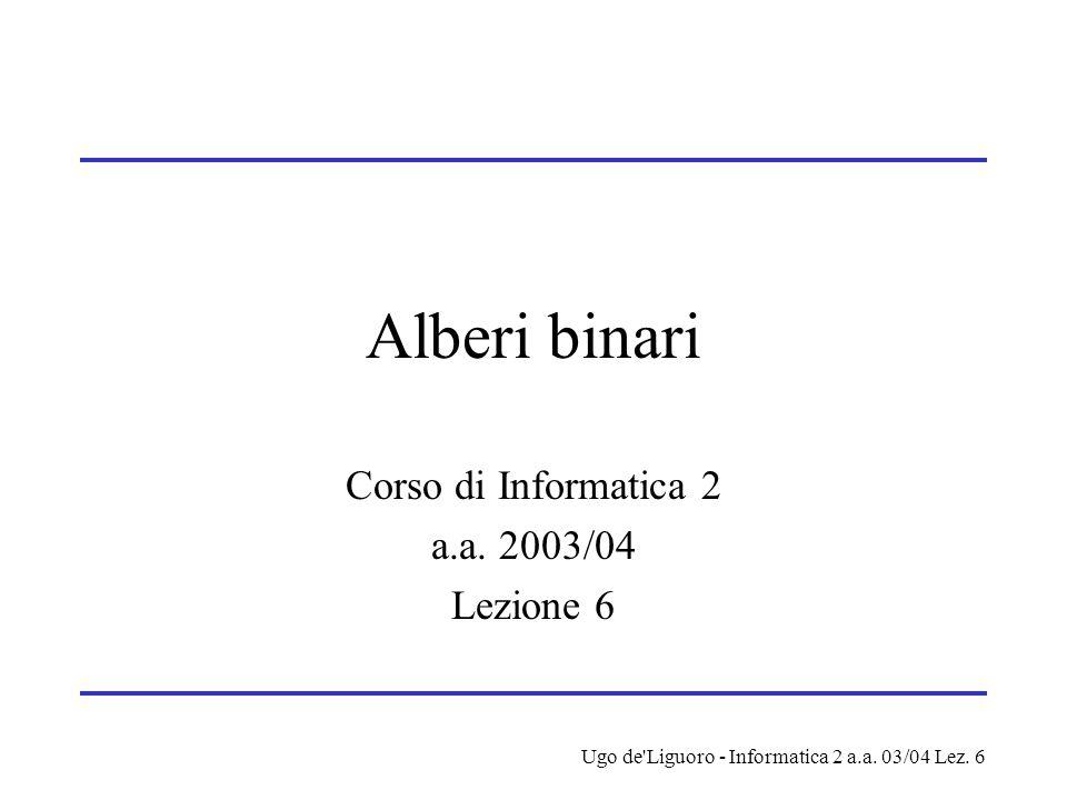 Corso di Informatica 2 a.a. 2003/04 Lezione 6