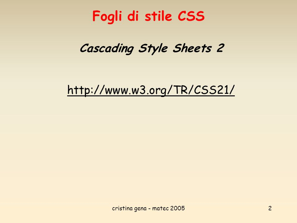 Cascading Style Sheets 2