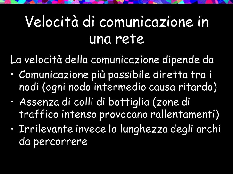 Velocità di comunicazione in una rete