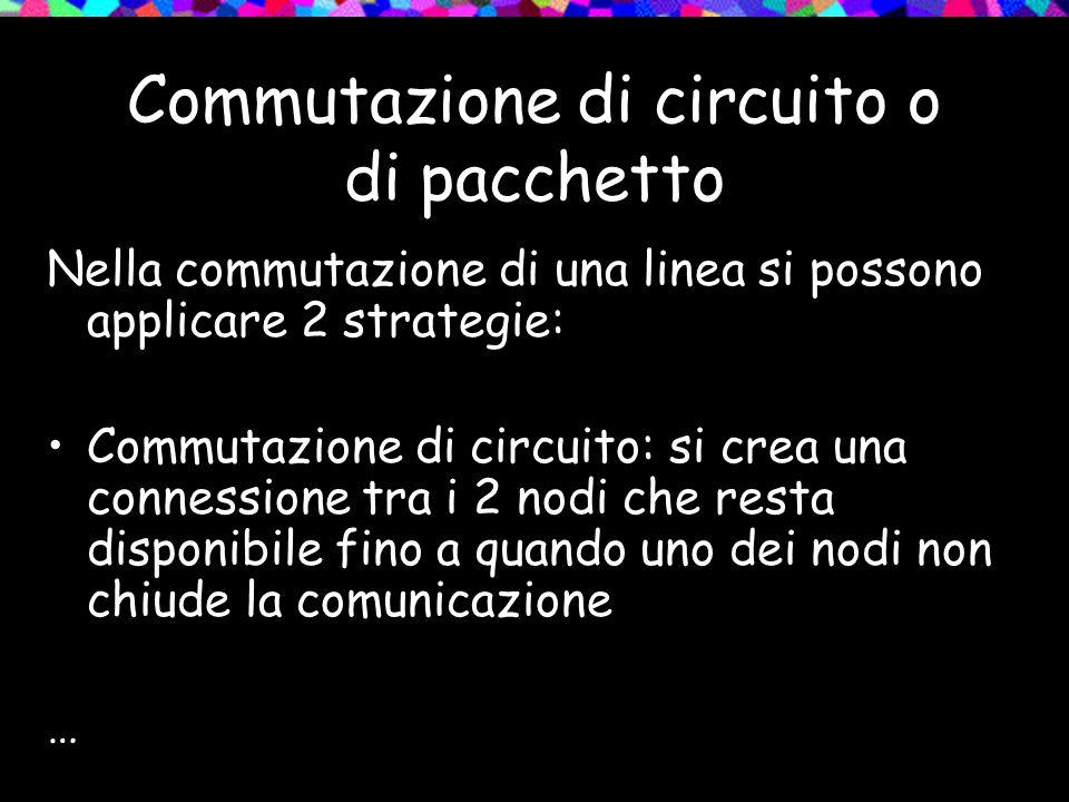 Commutazione di circuito o di pacchetto