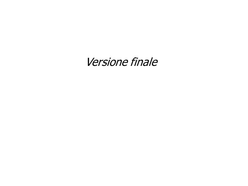 Versione finale