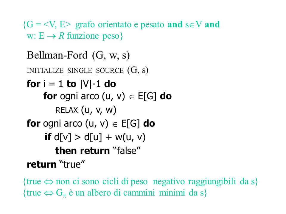 {G = <V, E> grafo orientato e pesato and sV and