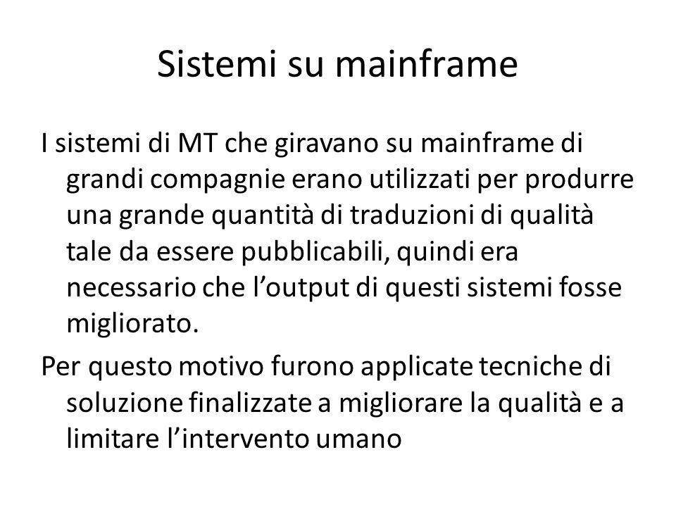 Sistemi su mainframe