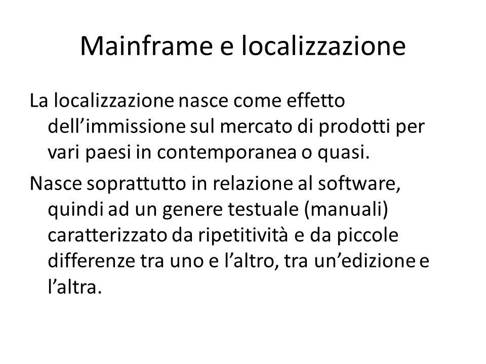 Mainframe e localizzazione