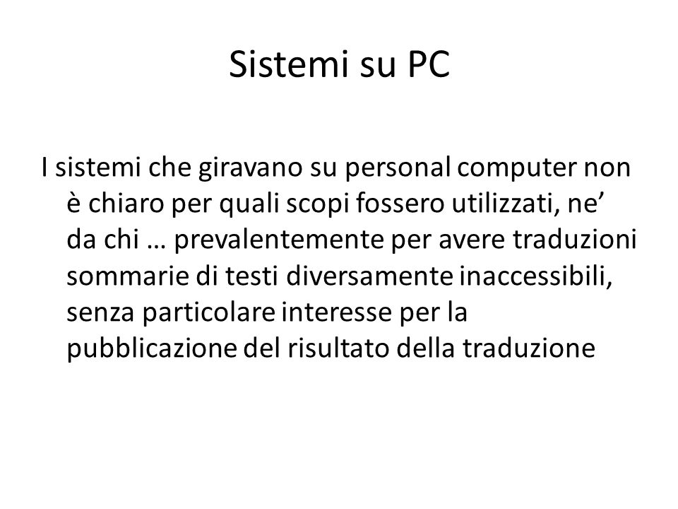 Sistemi su PC