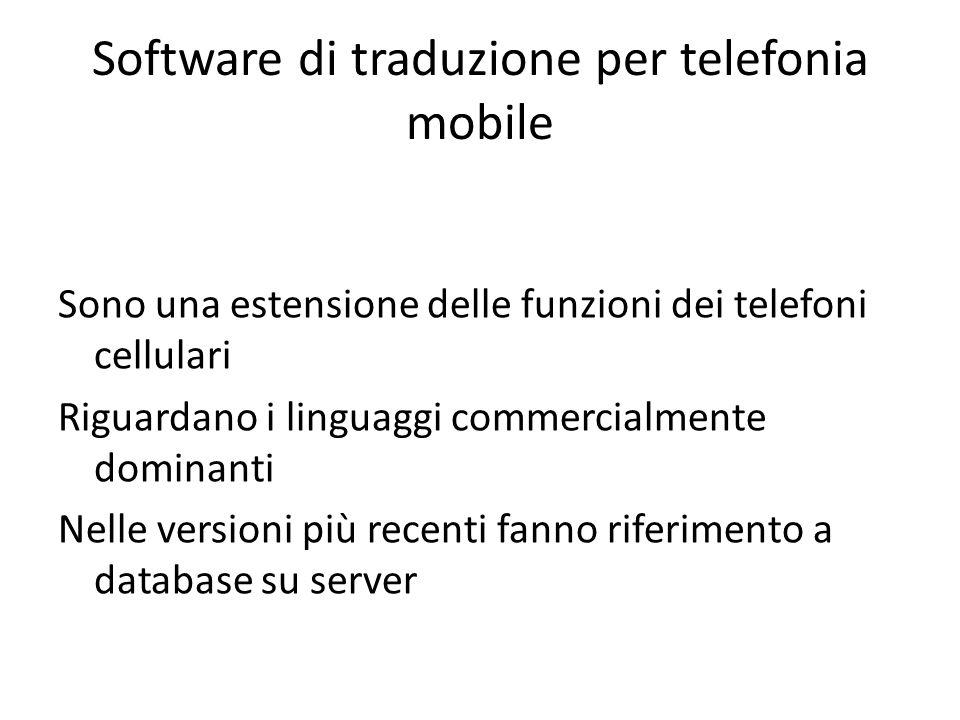 Software di traduzione per telefonia mobile