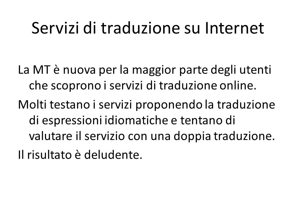 Servizi di traduzione su Internet
