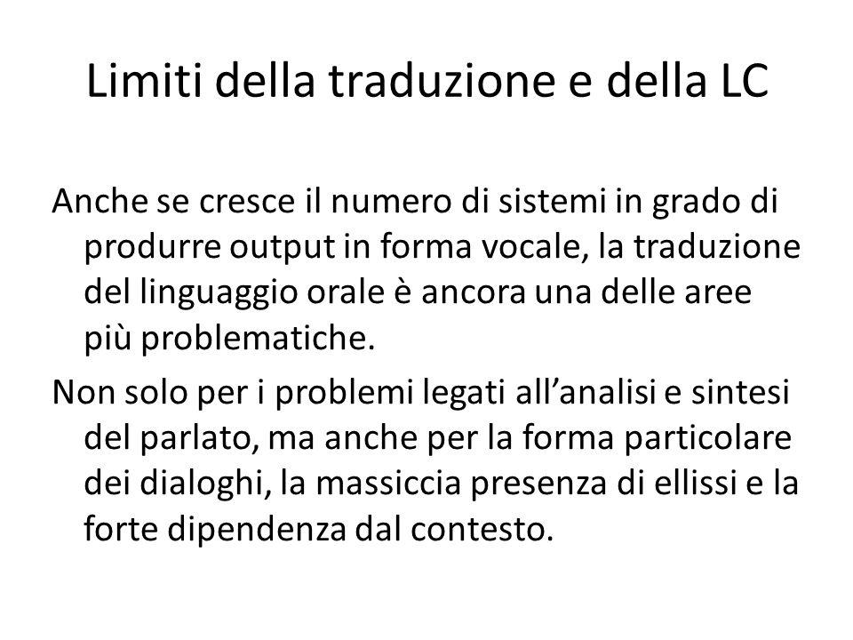 Limiti della traduzione e della LC