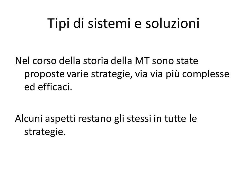 Tipi di sistemi e soluzioni