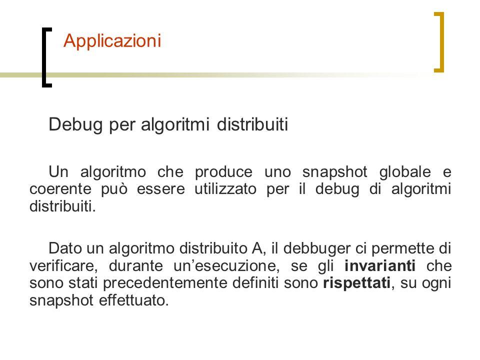 Debug per algoritmi distribuiti