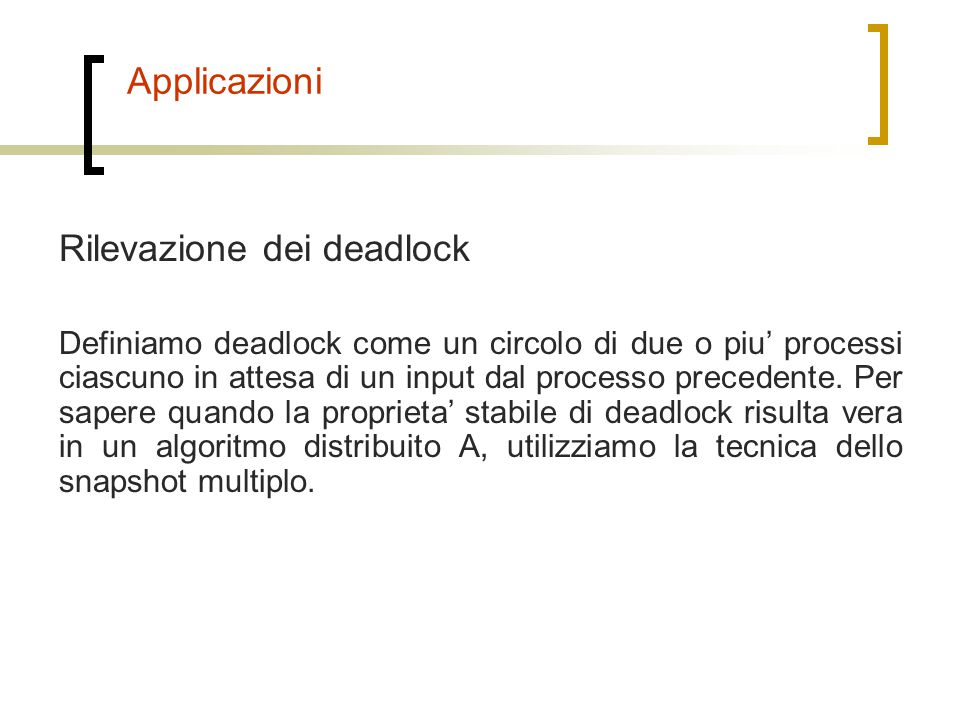 Rilevazione dei deadlock