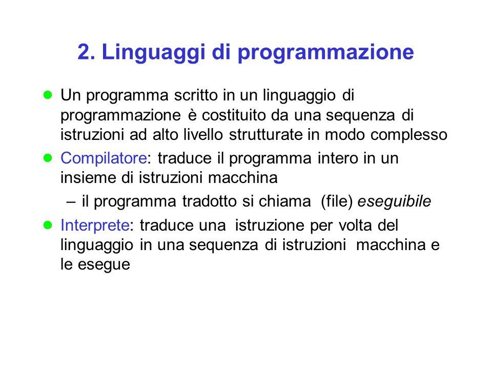 2. Linguaggi di programmazione