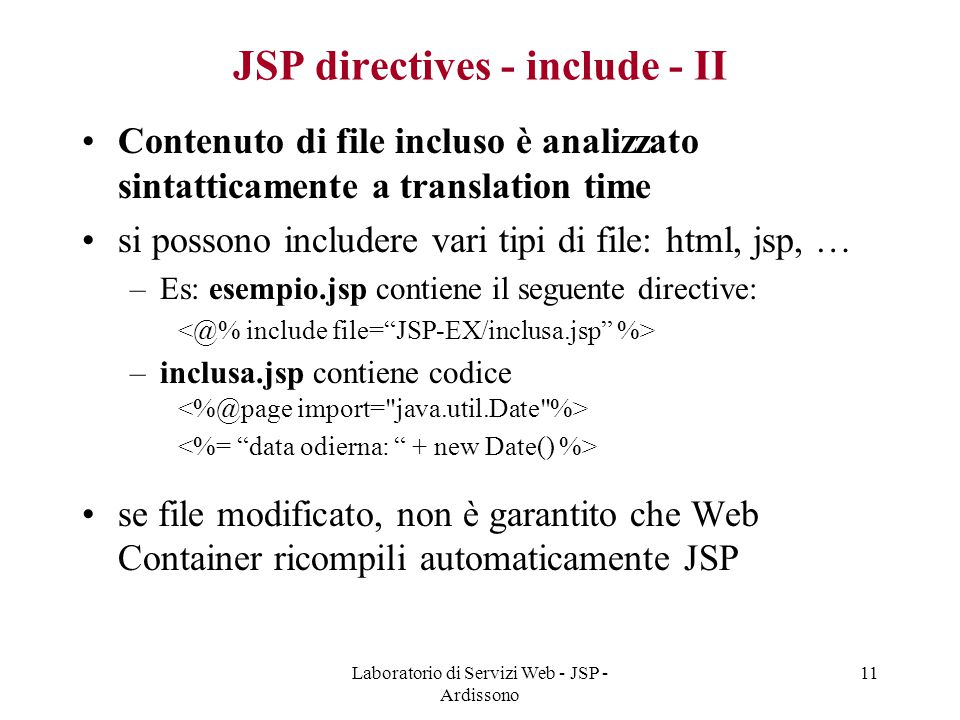 JSP directives - include - II