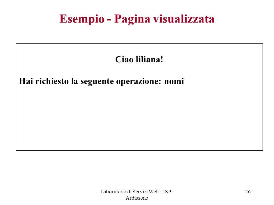 Esempio - Pagina visualizzata