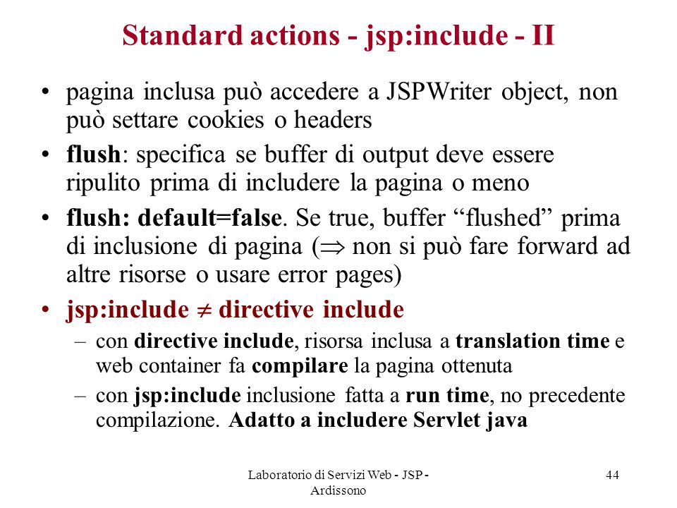 Standard actions - jsp:include - II