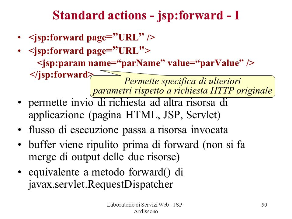 Standard actions - jsp:forward - I