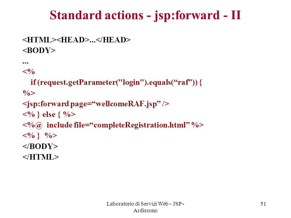 Standard actions - jsp:forward - II