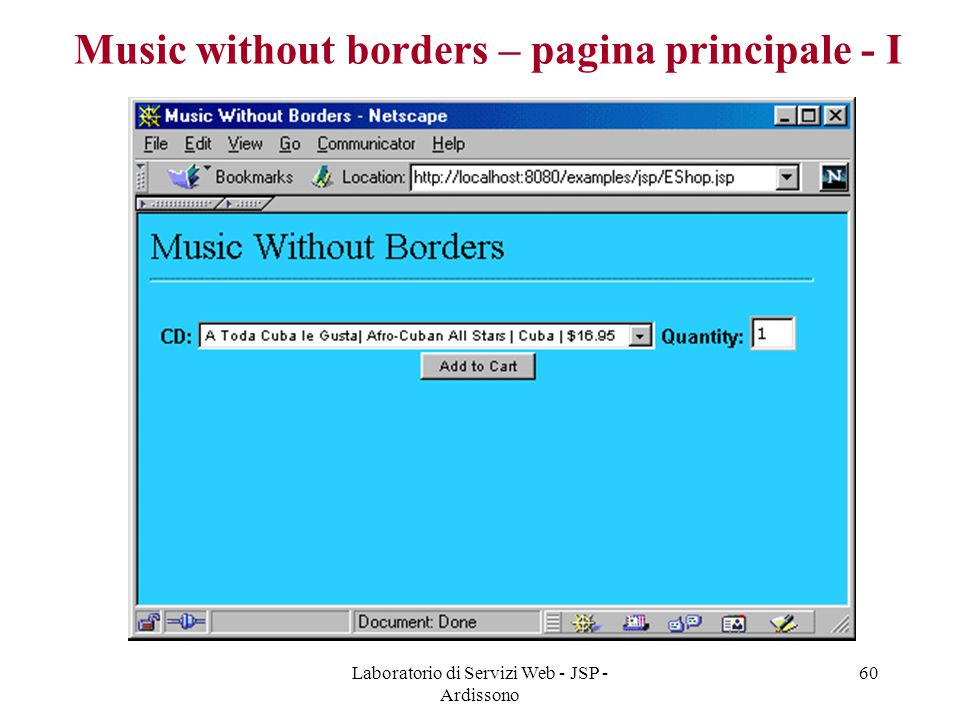 Music without borders – pagina principale - I