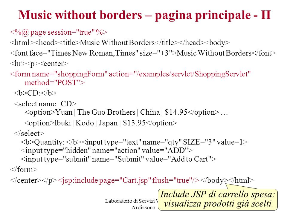 Music without borders – pagina principale - II